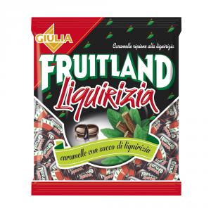 FRUITLAND 12 Confezioni caramelle in busta con zucchero liquirizia 200gr