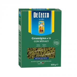 DE CECCO 12 Confezioni pasta di semola gramigna spinaci 500gr