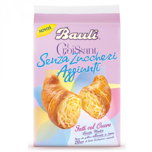 BAULI 6 Confezioni merendine croissant classico senza zucchero 200gr 5 pezzi