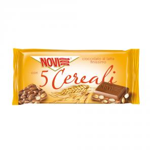 NOVI 22 Confezioni tavolette barrette cioccolata ai cereali 80gr