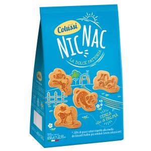 COLUSSI 8 Confezioni biscotti secchi nic nac senza olio di palma 650gr