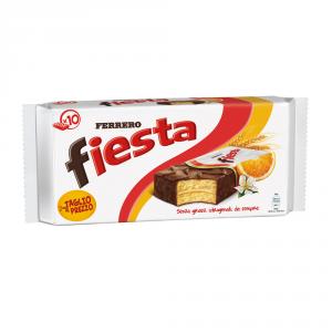 FERRERO 7 Confezioni merendine farcite ricoperte fiesta senza grassi idrogenati 360gr