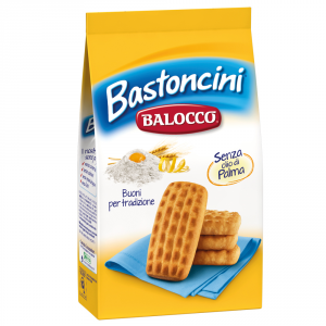 BALOCCO 12 Confezioni biscotti frollini bastoncini senza olio di palma 350gr