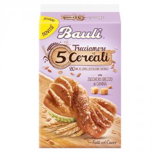 BAULI 12 Confezioni merendine semplici trecciamore 5 cereali con zucchero grezzo di canna 210gr