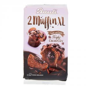 BAULI 10 Confezioni merendine farcite plum cake 2muffin xl con cioccolato 220gr