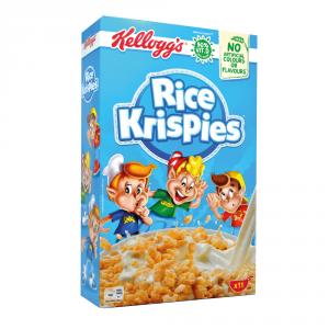 KELLOGGS 8 Confezioni cereali per bambini rice krispies con 50% vitamine b 340gr