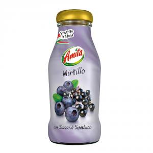 AMITA 24 Confezioni bevanda frutta 30-99% succo mirtillo 200ml bottiglia
