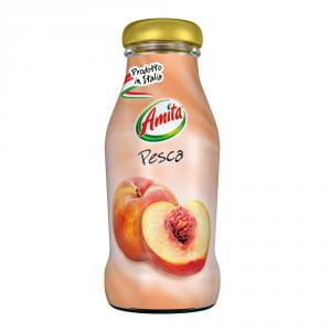 AMITA 24 Confezioni bevanda frutta 30-99% succo pesca 200ml bottiglia