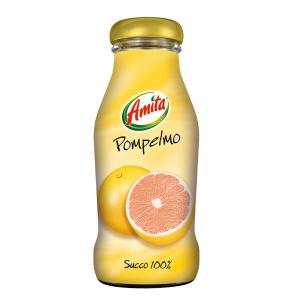 AMITA 24 Confezioni succhi di frutta 100% succo pompelmo 100% 200ml
