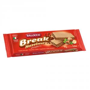 BALOCCO 24 Confezioni wafer break hazelnut con crema alla nocciola 90gr
