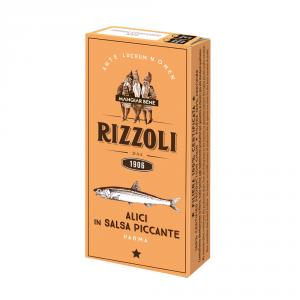 RIZZOLI 14 Confezioni alici e acciughe salsa piccante rizzoli 50gr