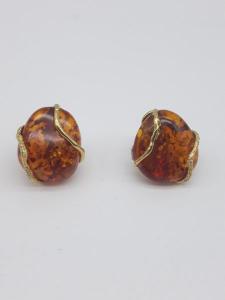 Orecchini in Ambra del Baltico e oro giallo 750, vendita on line | GIOIELLERIA BRUNI Imperia
