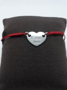 Bracciale donna in argento con cuore, vendita on line | GIOIELLERIA BRUNI Imperia