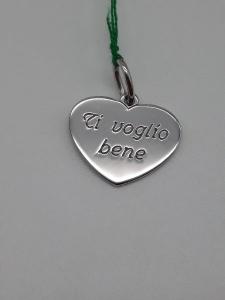 Ciondolo cuore in argento con incisione, vendita on line | GIOIELLERIA BRUNI Imperia