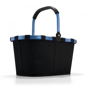Reisenthel - Carrybag - Cestino per la spesa pieghevole blu e nero cod. BK7042