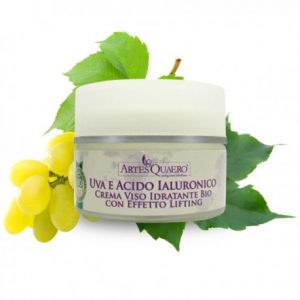 Crema Viso Idratante Bio all'Uva e Acido Ialuronico con Effetto Lifting