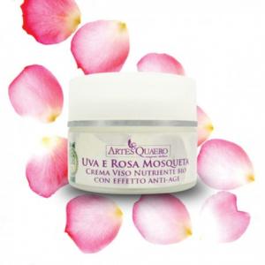 Crema Viso Nutriente Bio all'Uva e Rosa Mosqueta con Effetto Anti-age