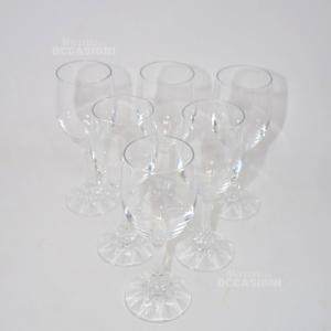 6 Bicchieri Vetro Calice