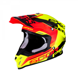 CASCO MOTO CROSS SCORPION VX-16 AIR ARHUS NEON YELLOW NEON RED
