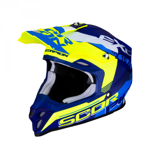 CASCO MOTO CROSS SCORPION VX-16 AIR ARHUS MATT BLUE NEON YELLOW