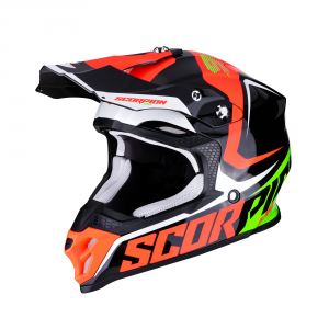 CASCO MOTO CROSS SCORPION VX-16 AIR ERNEE BLACK NEON RED GREEN