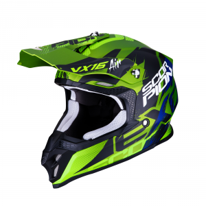 CASCO MOTO CROSS SCORPION VX-16 AIR ALBION MATT GREEN BLACK