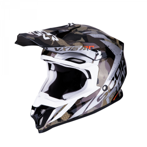 CASCO MOTO CROSS SCORPION VX-16 AIR WAKA BLACK SILVER
