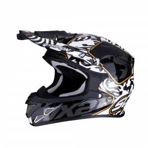 CASCO MOTO CROSS SCORPION VX-21 AIR GNARLY BLACK WHITE