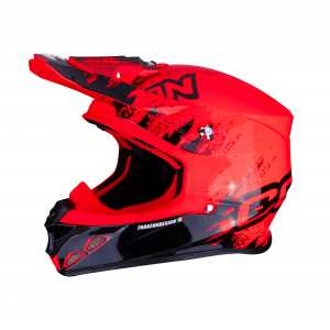 CASCO MOTO CROSS SCORPION VX-21 AIR MURDIT BLACK NEON RED