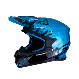 CASCO MOTO CROSS SCORPION VX-21 AIR MURDIT BLACK SKY BLUE