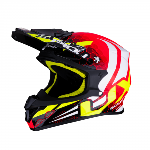 CASCO MOTO CROSS SCORPION VX-21 AIR XAGON NEON RED BLACK