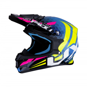CASCO MOTO CROSS SCORPION VX-21 AIR XAGON NEON BLU NEON YELLOW