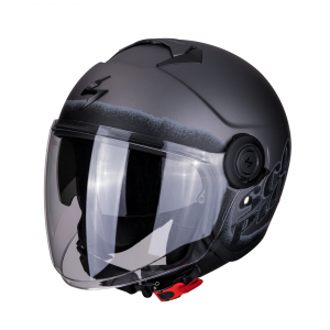 CASCO MOTO JET SCORPION EXO-CITY BLURR MATT SILVER BLACK