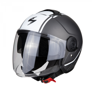 CASCO MOTO JET SCORPION EXO-CITY AVENUE MATT DARK SILVER WHITE