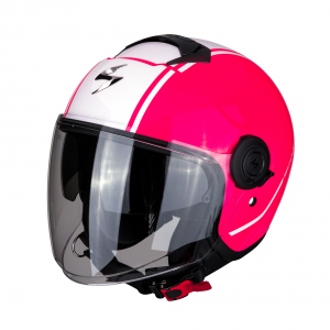 CASCO MOTO JET SCORPION EXO-CITY AVENUE PINK WHITE