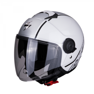 CASCO MOTO JET SCORPION EXO-CITY AVENUE WHITE SILVER
