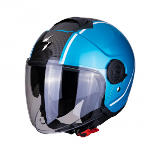 CASCO MOTO JET SCORPION EXO-CITY AVENUE BLUE BLACK