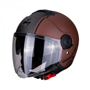 CASCO MOTO JET SCORPION EXO-CITY AVENUE MATT BROWN BLACK