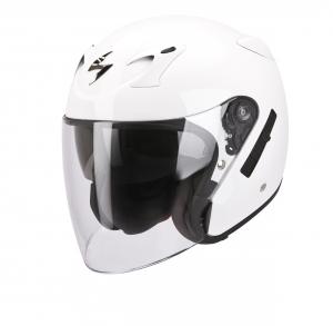 CASCO MOTO JET SCORPION EXO-220 SOLID WHITE
