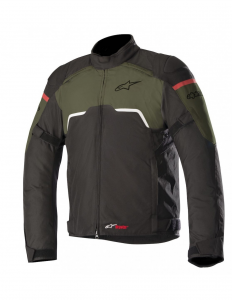 GIACCA MOTO ALPINESTARS HYPER DRYSTAR BLACK MILITARY GREEN COD. 3204718