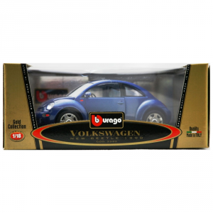 BBURAGO Vw New-Beetle Blue (1998) 1/18 miniature model collectible car kit toy child junior