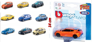 BBURAGO Assorted Cars Street 1/43 In Blister miniature collectible car 481