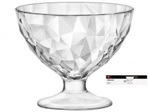 BORMIOLI ROCCO Set 12 Cups Transparent Glass Diamond Jr Made in Italy Italy