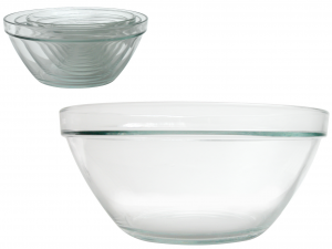 BORMIOLI ROCCO Set 4 Glass Bowls Pompeii Stackable Cm26 Made in Italy Italy