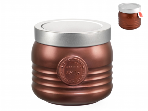 BORMIOLI ROCCO Set 6 1825 0.75 Tin Workshop Bronze Food Containers Made in Italy