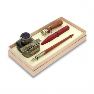 BORTOLETTI writing Set wooden pen,seal and sealing-wax artistic writing Made in Italy