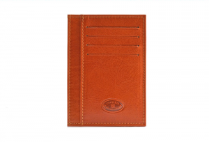 CUOIERIA FIORENTINA Wallet leather card holder pelle Orange Made in Italy