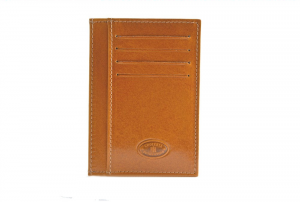 CUOIERIA FIORENTINA Wallet leather card holder pelle Yellow Made in Italy