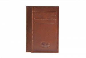 CUOIERIA FIORENTINA Wallet leather card holder pelle Brown Italian style Italy