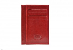 CUOIERIA FIORENTINA Wallet leather card holder pelle Red Italian style Italy